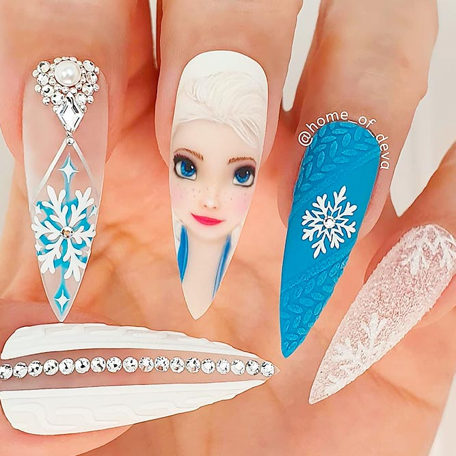 The Frozen Nail Art #thefrozen #longnails