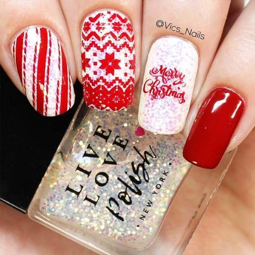 Patterned Winter Nail Designs picture 3