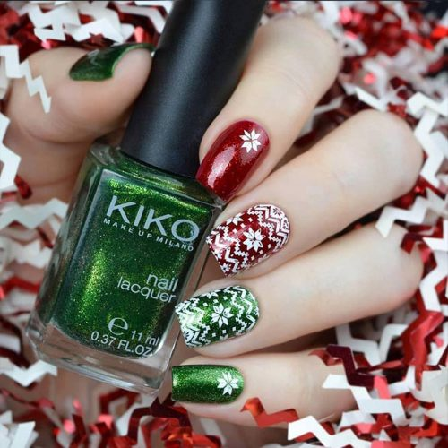 Patterned Winter Nail Designs picture 1
