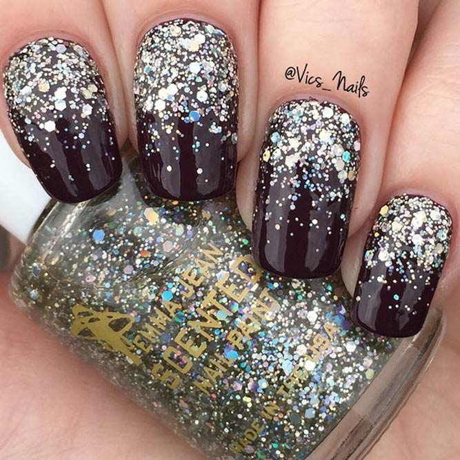 Glitter Winter Nail Designs picture 2