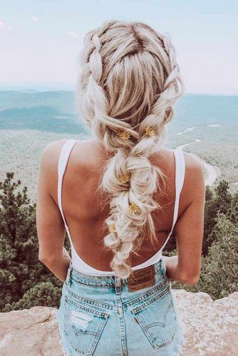 Long Braid Bohemian Hairstyle #braidedhairstyle