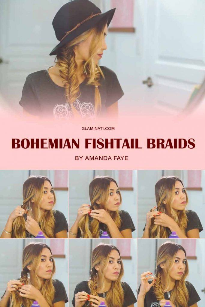 Messy Fishtail Braids With Hat  #tutorials #bohostyle