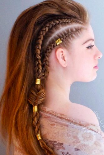 Side Braids To Achieve A Faux Hawk Style picture1
