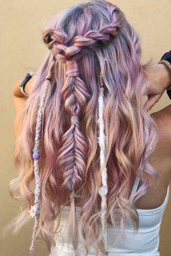 Half-Up Half-Down Bohemian Hairstyle  #halfuphalfdownhair