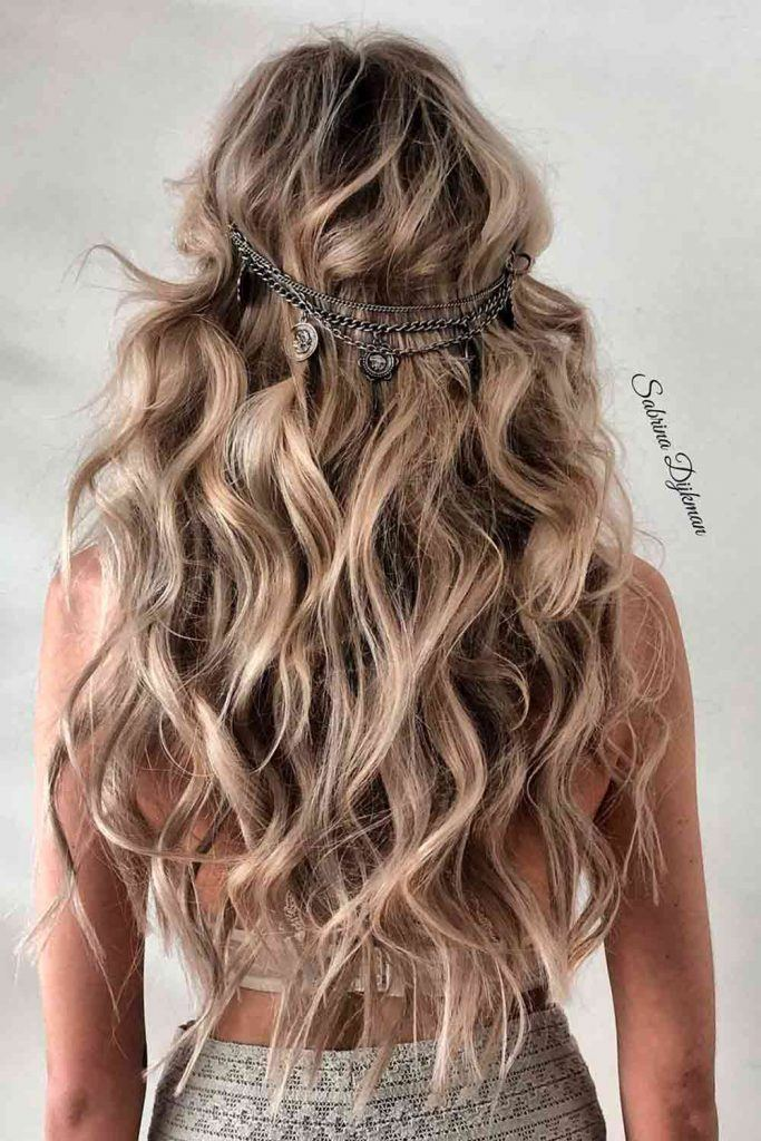 Loose Down Hairstyle With Accessories #hairaccessories #loosedownhair