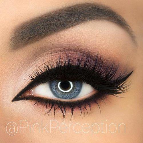 Matte Smokey With Bold Black Eyeliner #smokey #eyeliner