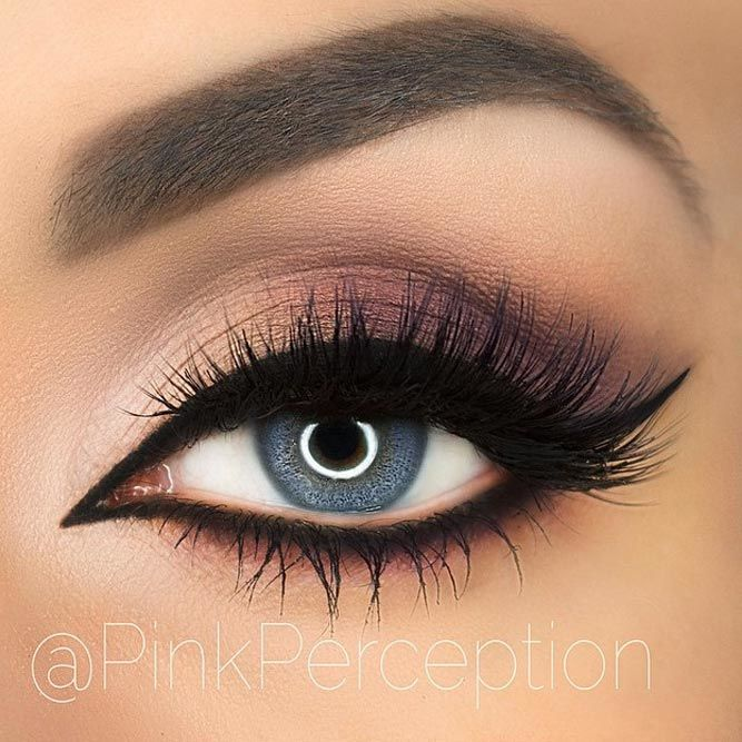Matte Smokey With Bold Black Eyeliner #smokey #eyeliner