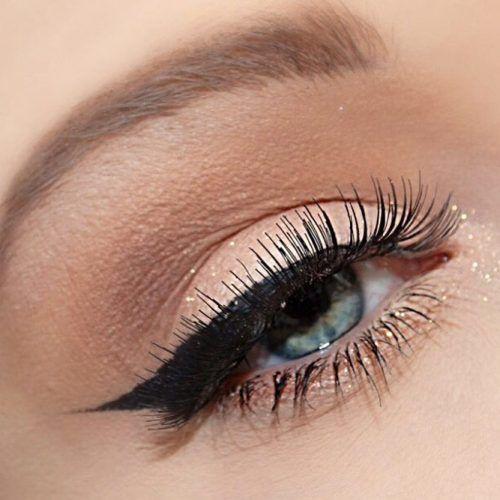 Natural Shadow With Bold Black Eyeliner #blackline