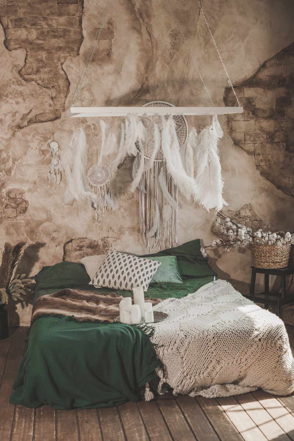 Boho Bedroom with Dream Catcher