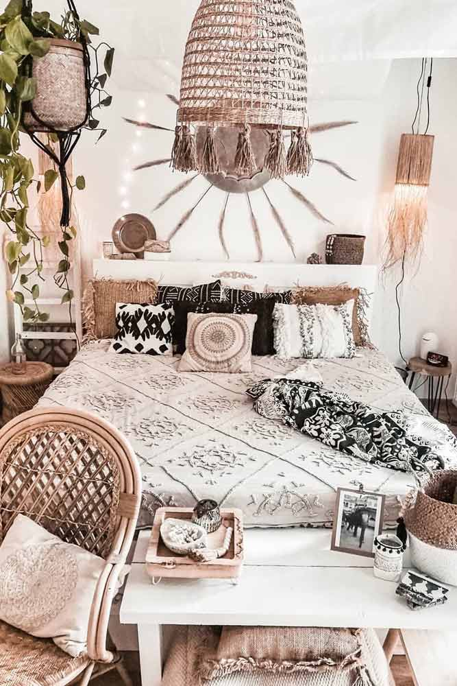 Patterned Accents For Boho Style #plant