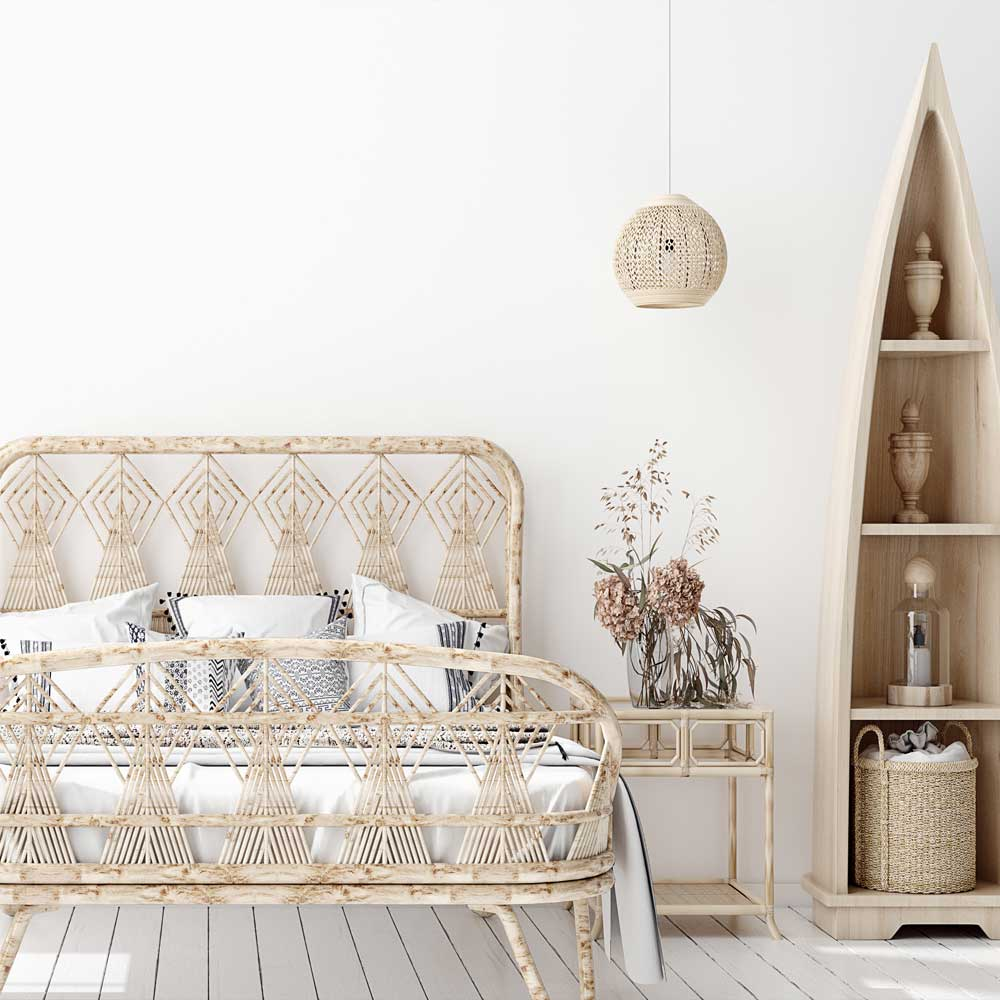 Boho Bedroom Idea with White Colors