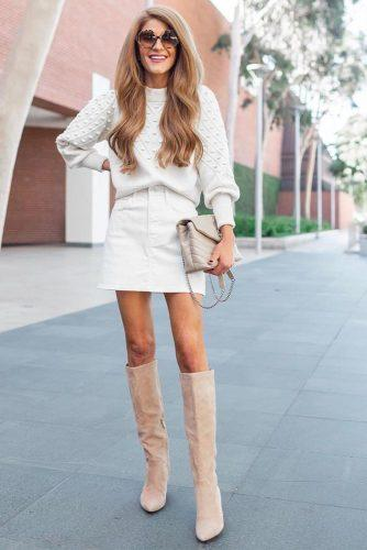 Monochromatic Cozy Outfit #whitesweater