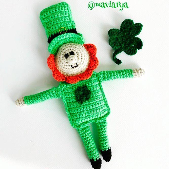Funny Crochet St/ Patrick Doll #stpatrick #crochet