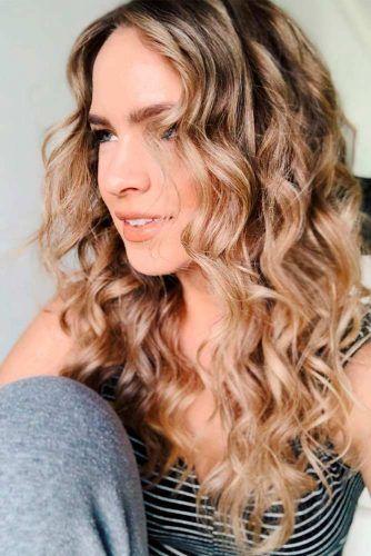Long Curly Broen Hair #curlyhair #brownhair