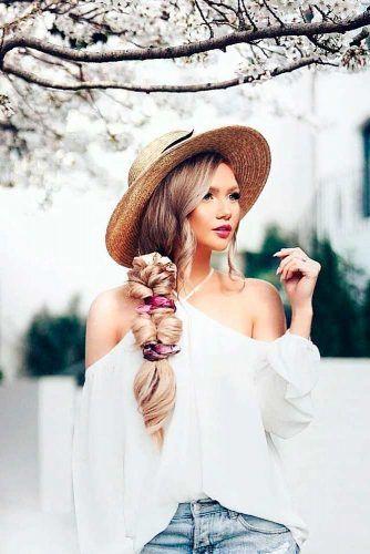 Side Braid With Hat #summerhat #sidebraid