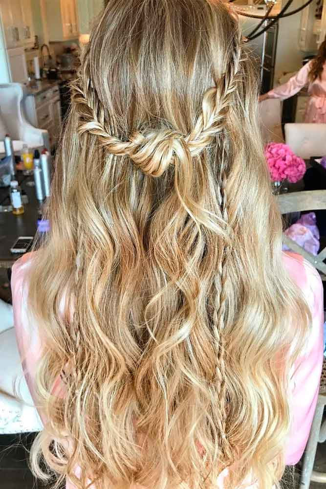 Messy Braided Half-Up #longhairstyles #braidedhairstyles