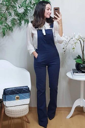Overall With Blouse Work Outfit #overall
