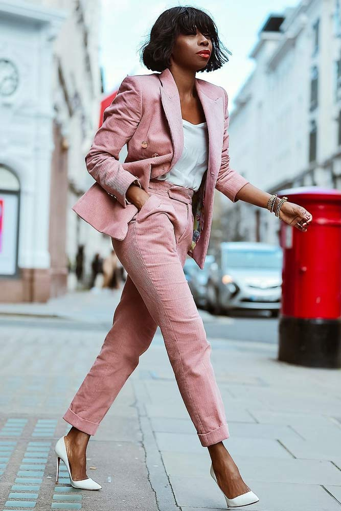 Pink Power Suit Work Outfit #pinkpowersuit