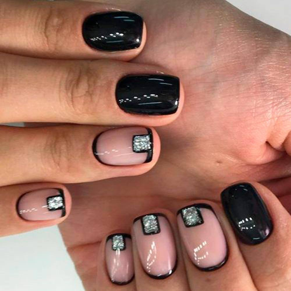 Silver And Black Moons #prettynails #stylishnails