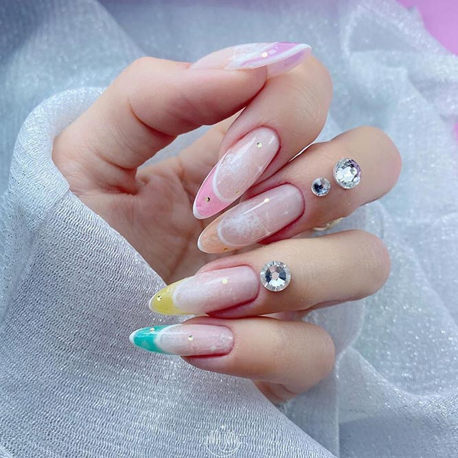 Is French Manicure Out Of Style? #colorfulnails #brightnailart