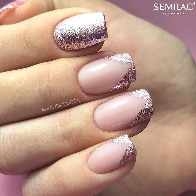 Are French Manicures Tacky? #glitternails #shortnails
