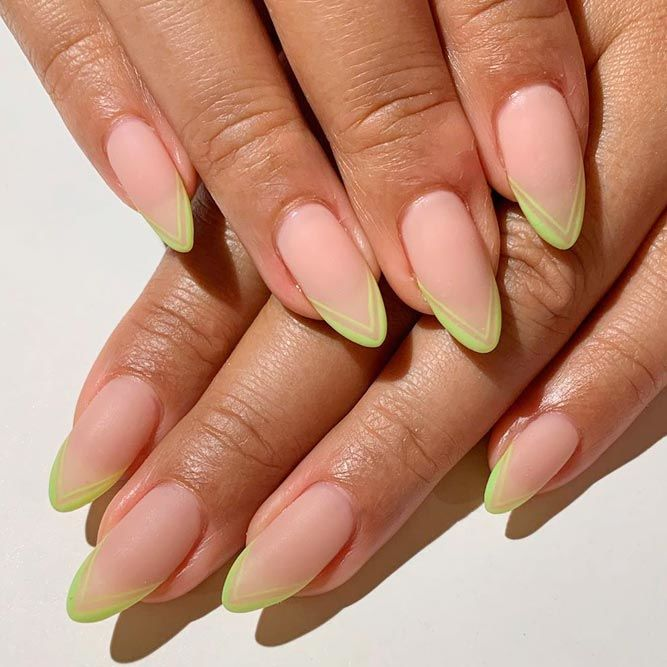Bright Matte Double French Mani #mattenails