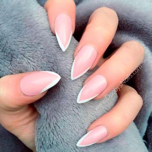 Think French Nails Tips #frenchnailstips #longnails
