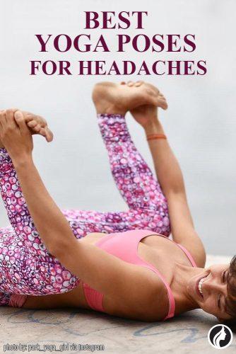 Ananda Balasana Pose for Headachese