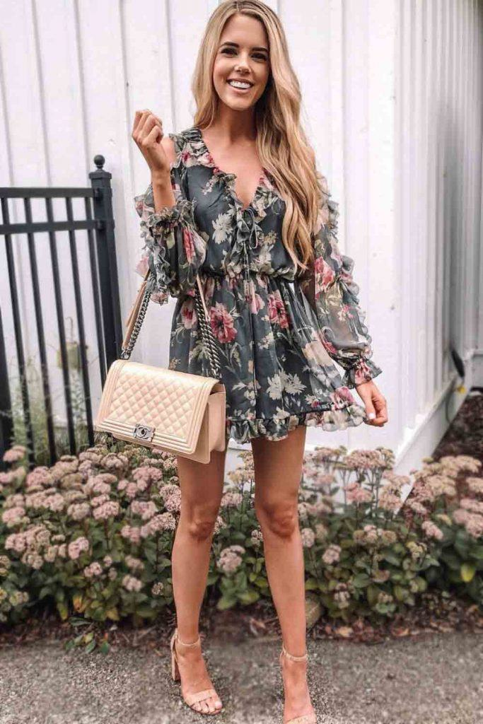 Floral Dress For Spring Outfit #floraldress