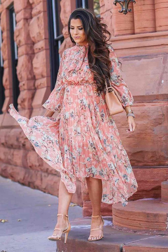 When Should I Start Wearing Spring Clothes? #pinkdress #floraldress