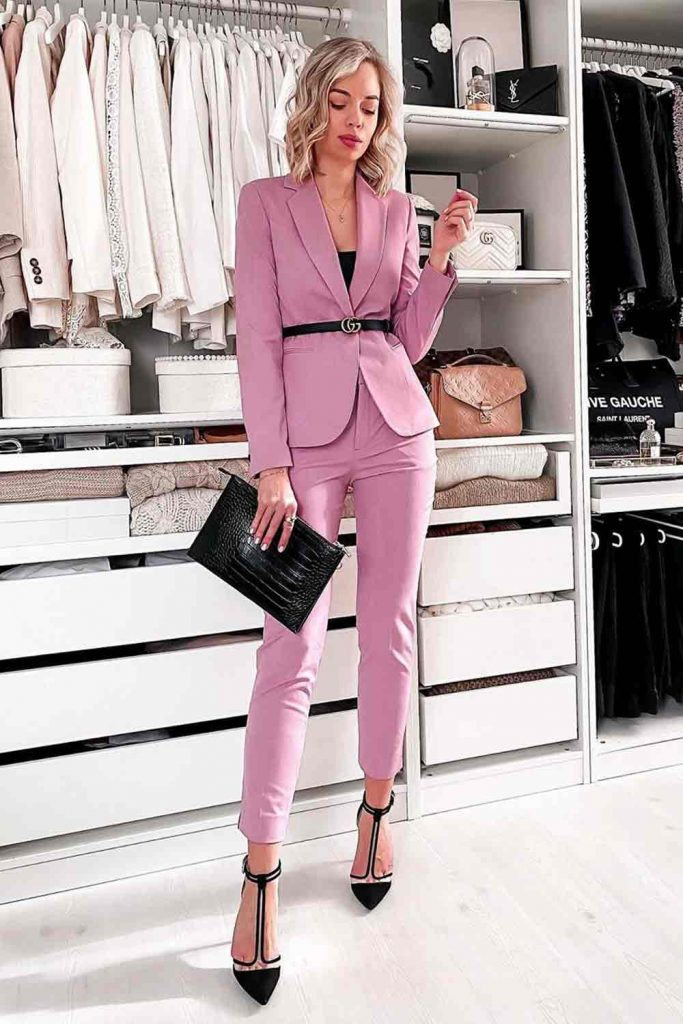 What Do You Wear In Spring? #powersuit #pinksuit