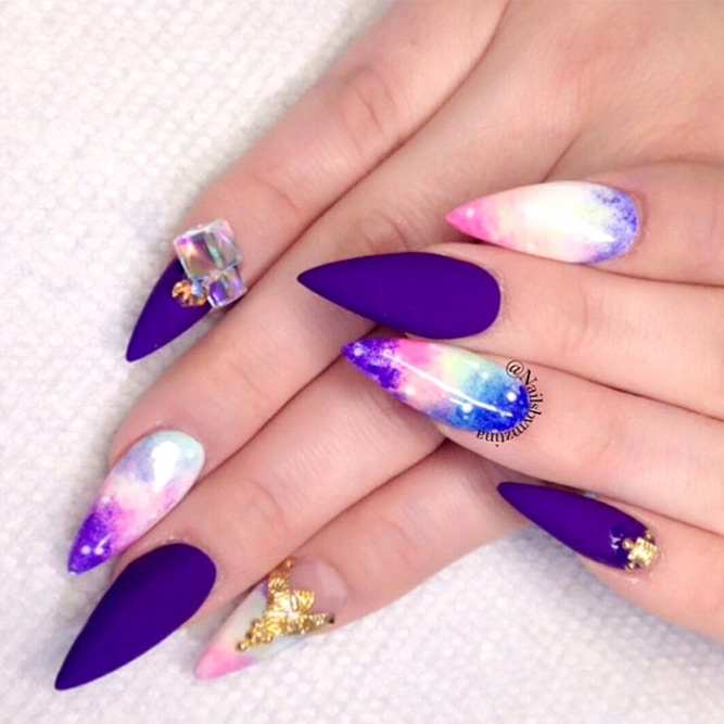 Ideas of Galaxy Nails You Need to Copy Immediately