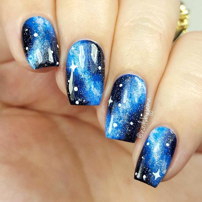 So-Pretty Galaxy Nails picture1