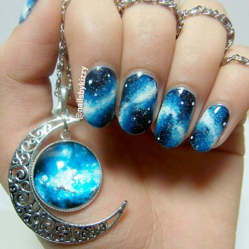Fantasy Galaxy Nail Art picture1