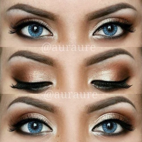 Smokey Makeup for Blue Eyes picture 1