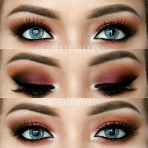 Smokey Makeup for Blue Eyes picture 4