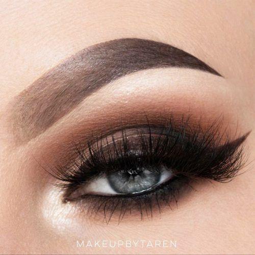 Smokey Eyes With Bold Eyeliner Makeup #smokeyeyes #boldeyeliner