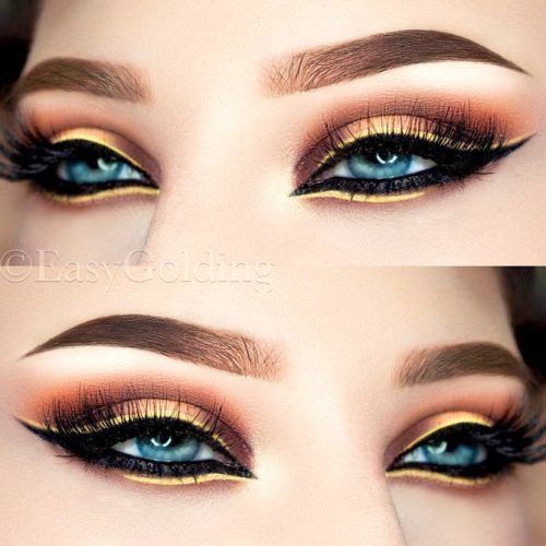 Gold Smokey With Double Eyeliner #goldshadow