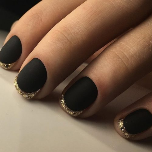 Cute Black Matte Nails picture 1