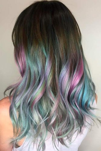 Wavy Hairstyles with Pastel Ombre Hair picture1