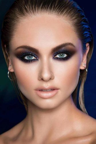 Smokey Eyes With Nude Lips #smokeymakeup