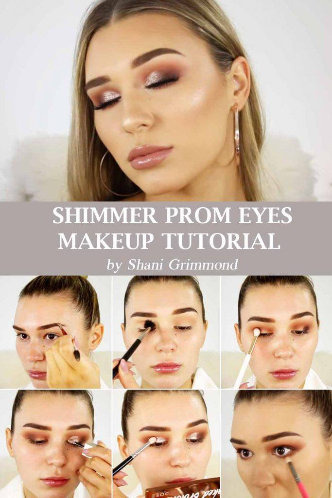Shimmer Prom Makeup Tutorial #makeuptutorial