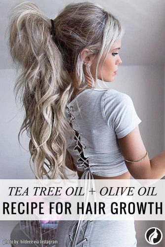 Tea tree oil with olive oil is powerful combination for hair growth