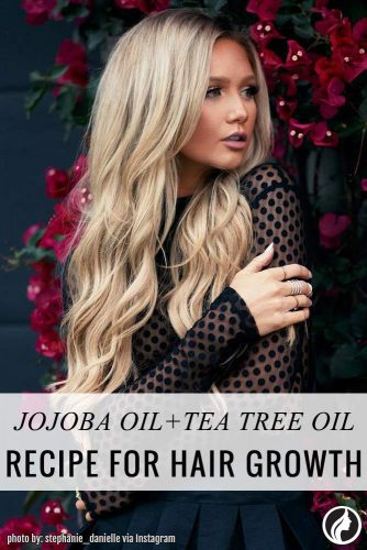 Jojoba oil and tea tree oil can help stimulate hair growth