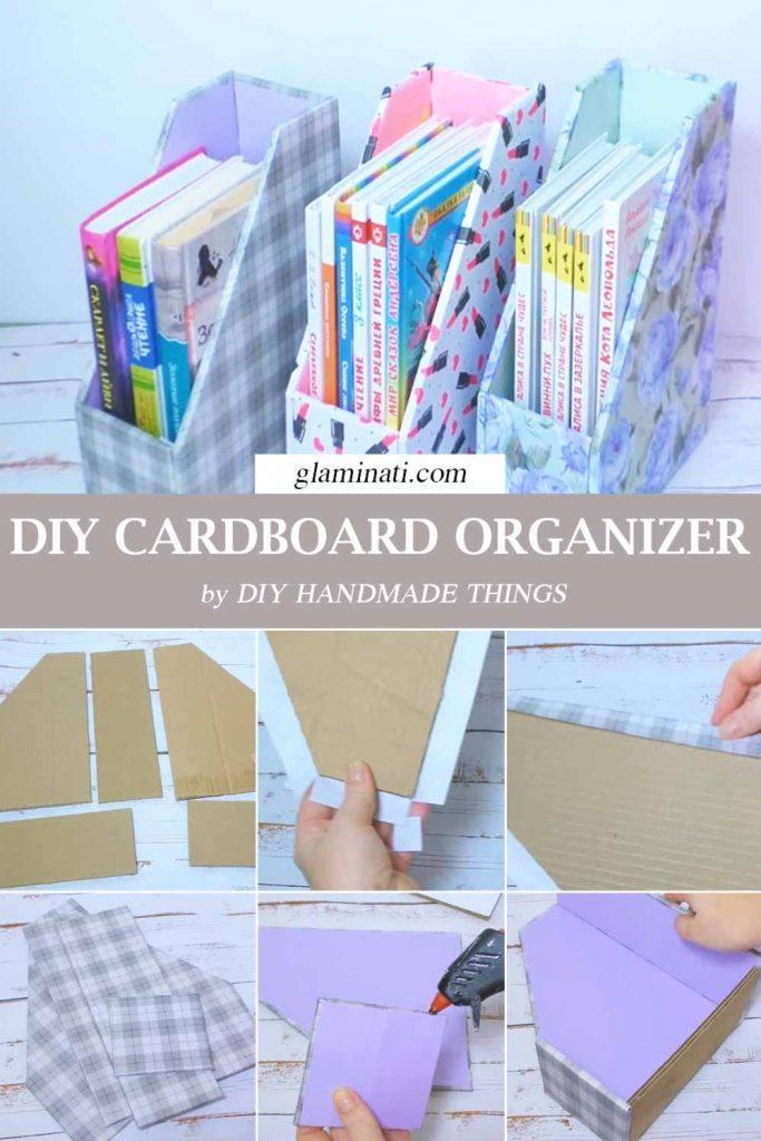 DIY Cardboard Organizer #diyorganizer