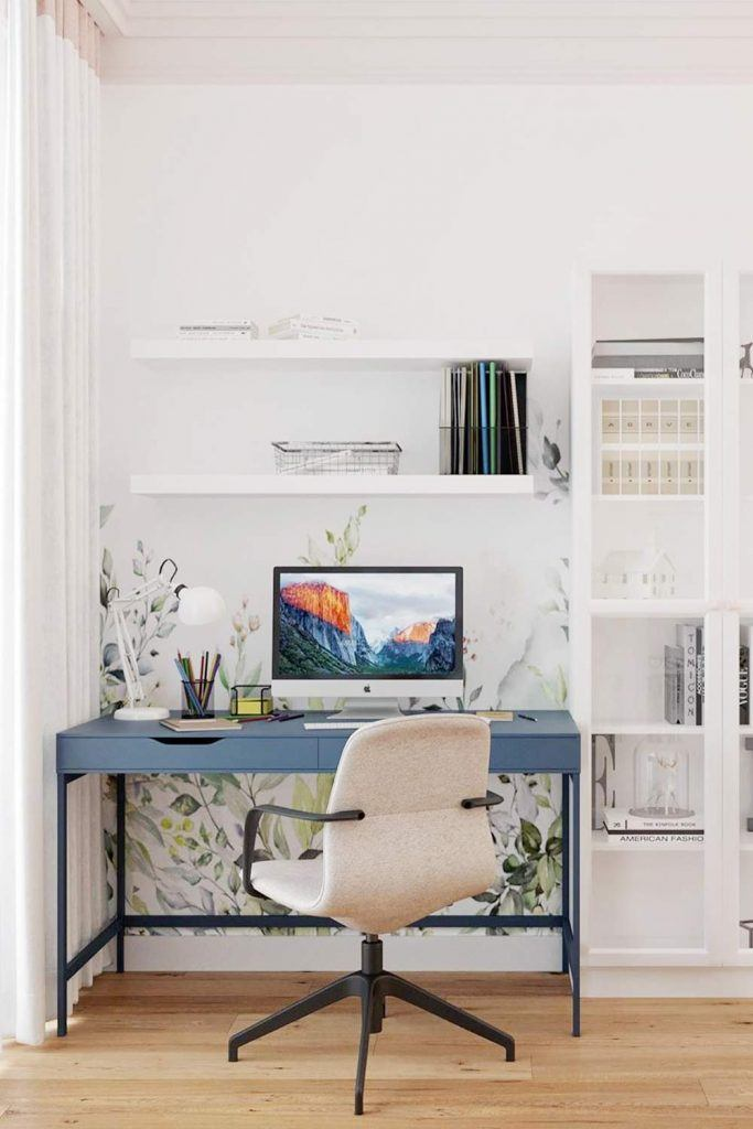 Light Colored Home Office