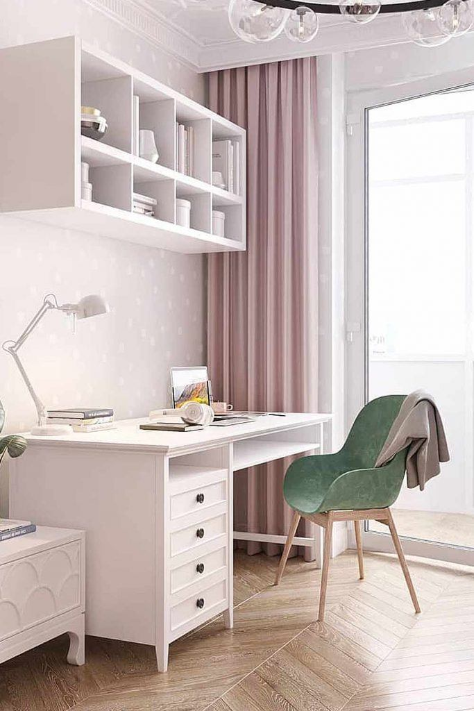 Home Office With Shelves