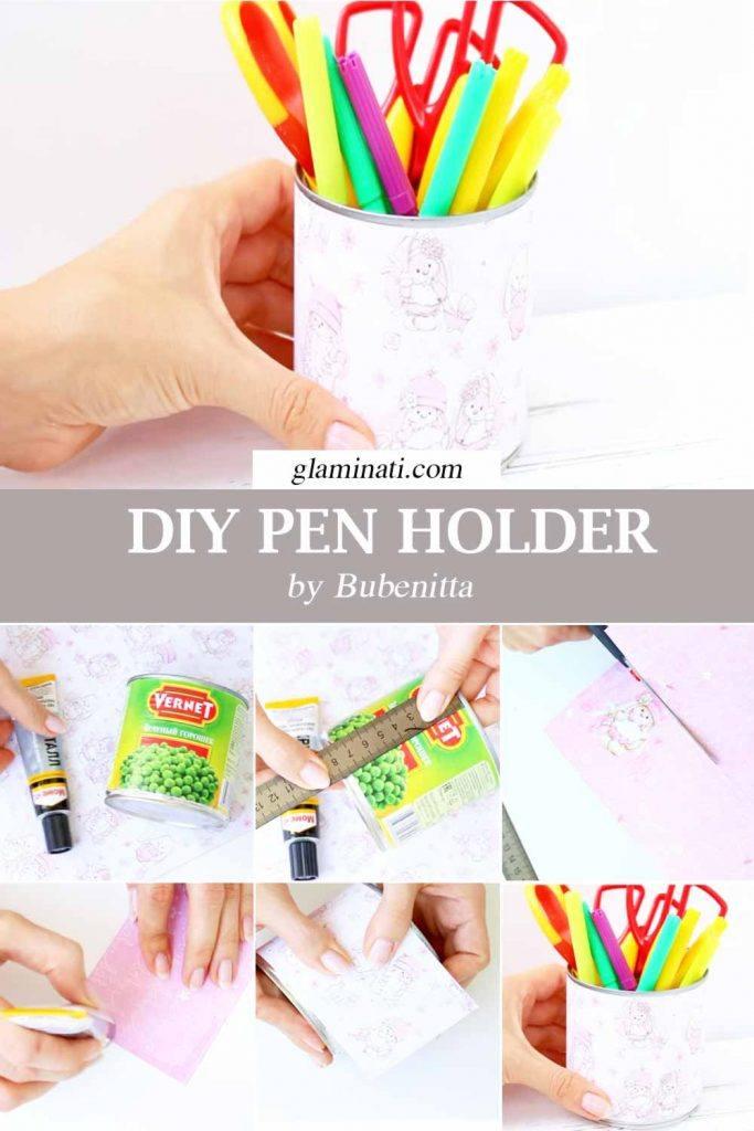 DIY Pen Holder #penholder #diypencilholder