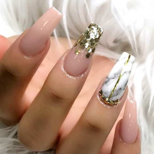 Marble Nail Designs for Prom picture4