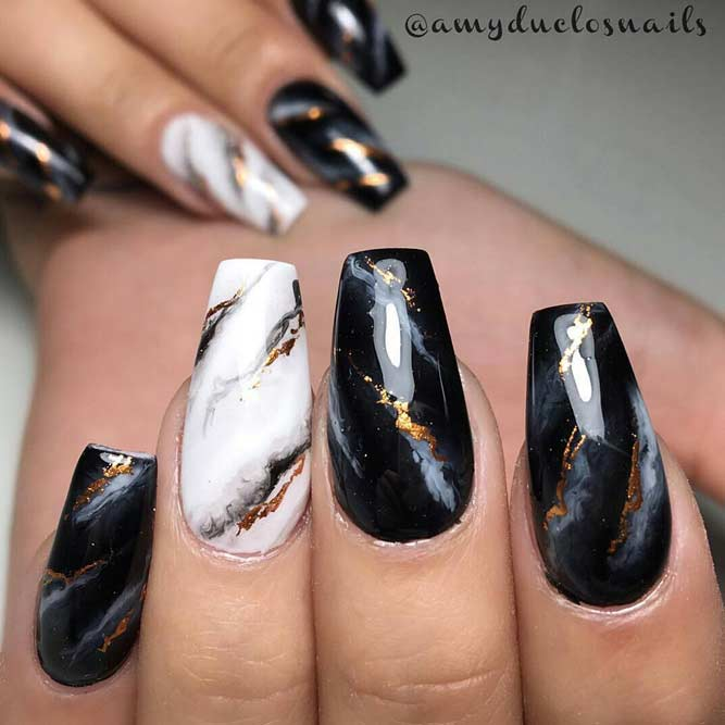 Marble Nail Designs for Prom picture6